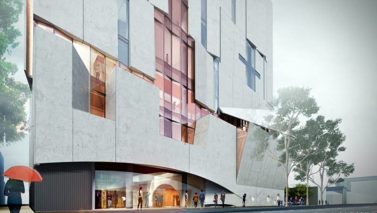 An artist's impression of the new Melbourne Conservatorium currently under construction.