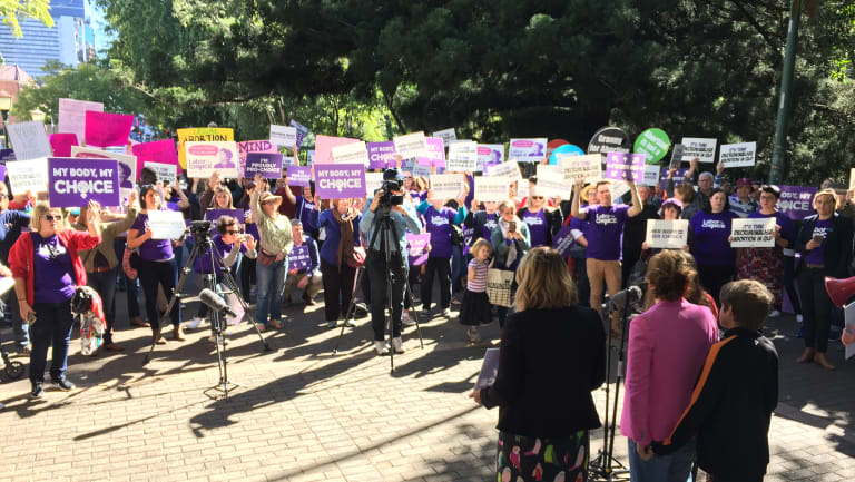 Pro-choice supporters made their voices heard in the heart of Brisbane.