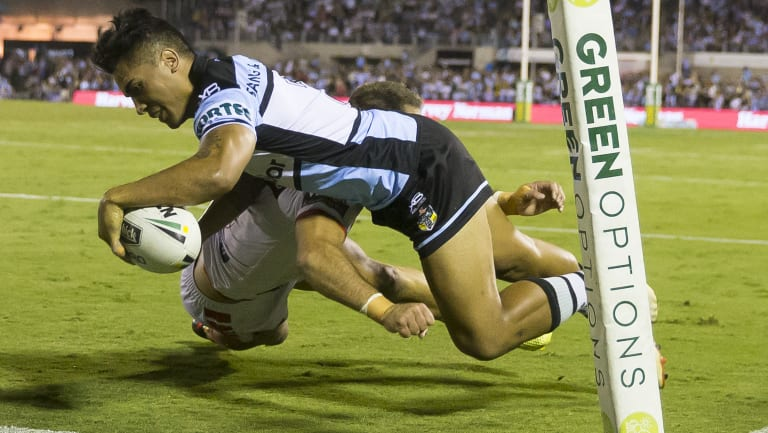 Going? Cronulla winger Sosaia Feki has been given permission to test the water with other clubs.
