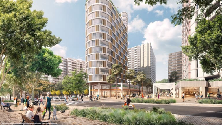 An artist's impression of the proposed redevelopment of the Ivanhoe public housing estate.