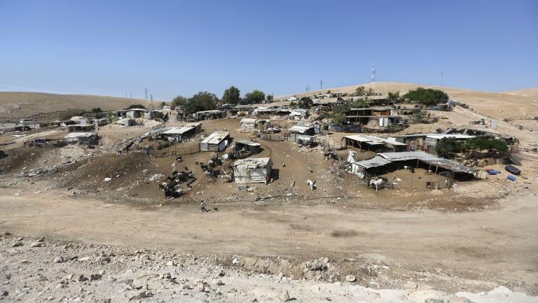 The West Bank hamlet of Khan al-Ahmar.