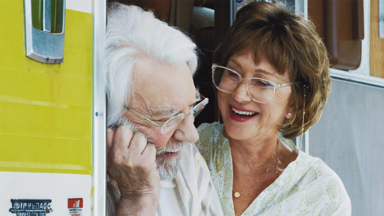 Helen Mirren and Donald Sutherland in The Leisure Seeker.