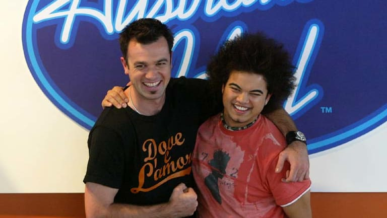 The original <em>Australian Idol</em> runner-up and winner Shannon Noll and Guy Sebastian.