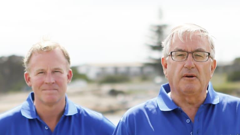 Tasmanian Premier Will Hodgman and Police Minister Rene Hidding