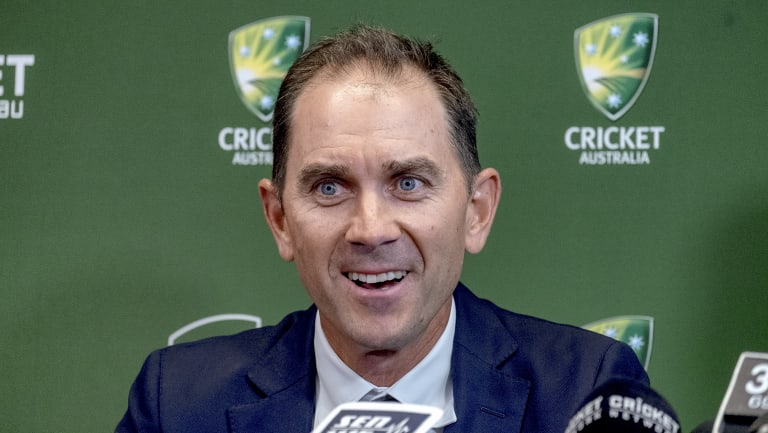 Steadying the ship: Justin Langer.