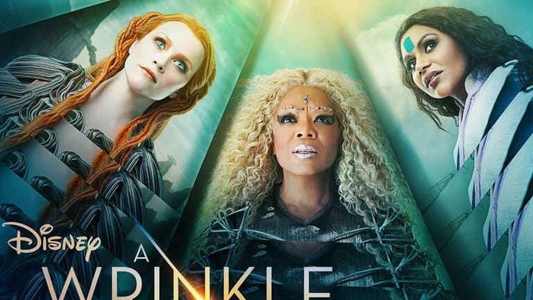 Reese Witherspoon, Oprah Winfrey and Mindy Kaling as they appear in the <i>Wrinkle in Time</i> poster.