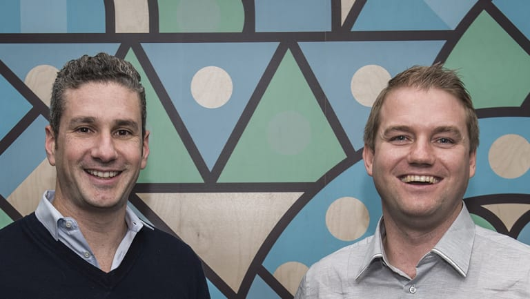 Prospa's two co-founders and joint CEOs Greg Moshal (left) and Beau Bertoli.