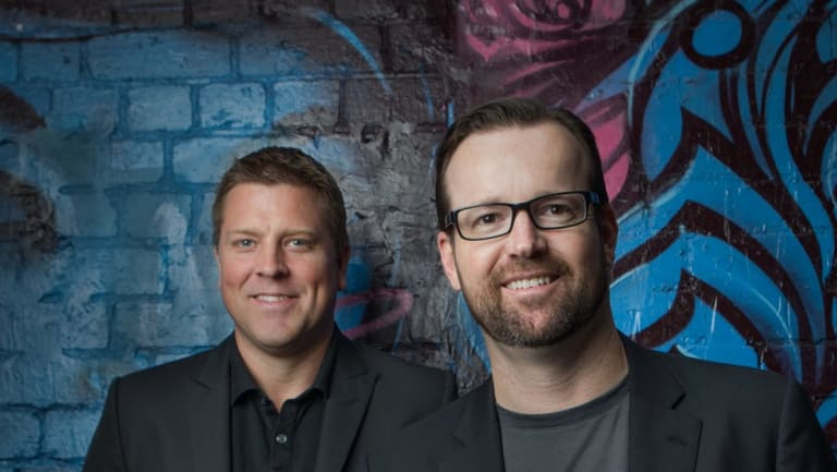 Aconex founders Leigh Jasper and Rob Philpott will each walk away with a cool $100 million.