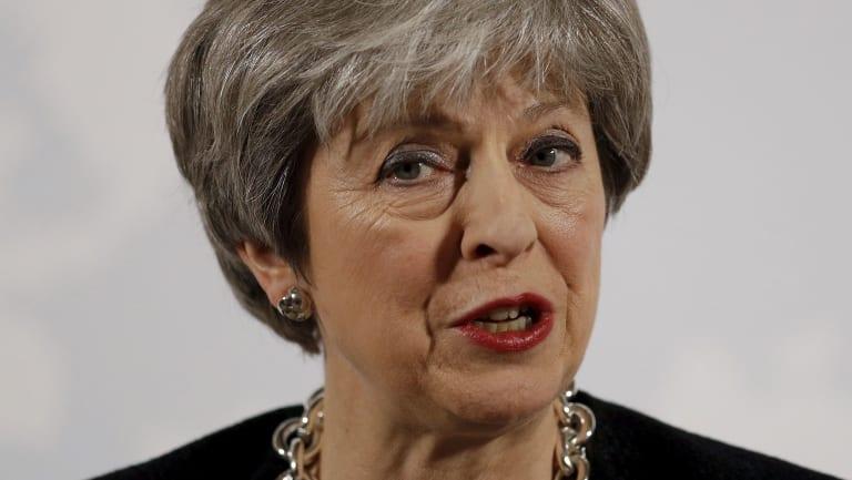 Under pressure: British PM Theresa May.