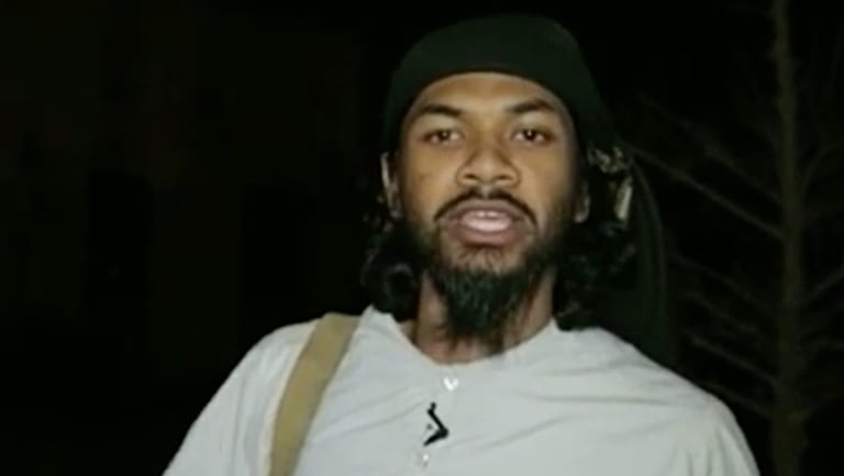A screen-grab of Australian-born Islamic State terrorist Neil Prakash.