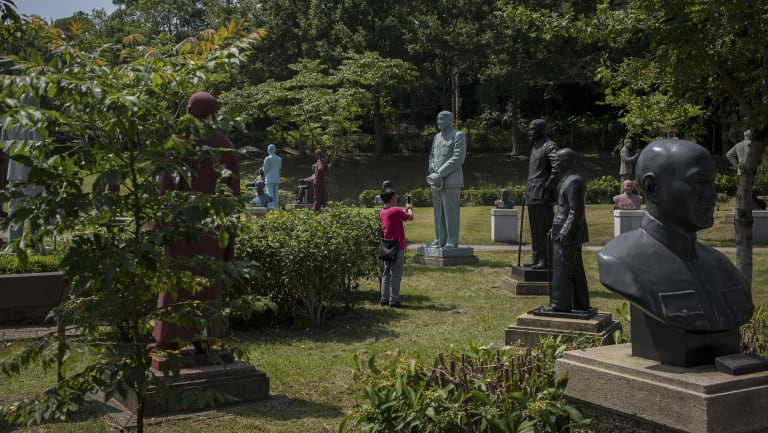 More than 200 statues of Chiang Kai-shek from around Taiwan have been relocated to this park in Taoyuan.