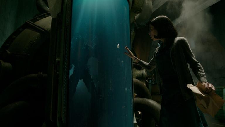 Doug Jones and Sally Hawkins in the film The Shape of Water.