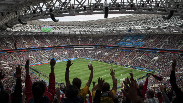 Packed house: The Luzhniki Stadium in Moscow.