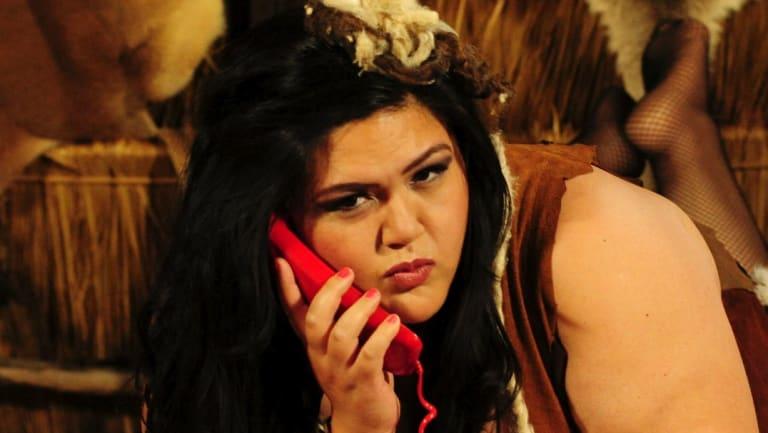 Nakkiah Lui in ABC TV's Black Comedy.