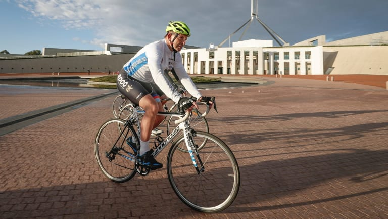 Tony Abbott launches Pollie Pedal on Wednesday.
