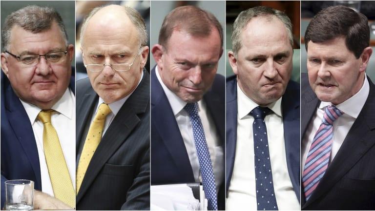 Members of the Monash Forum include Craig Kelly, Eric Abetz, Tony Abbott, Barnaby Joyce and Kevin Andrews.