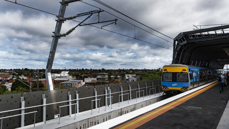The new station at Clayton opened on Monday.