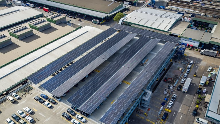 This is the second major solar installation for Sydney Markets, following the construction of a parking structure with solar panels.