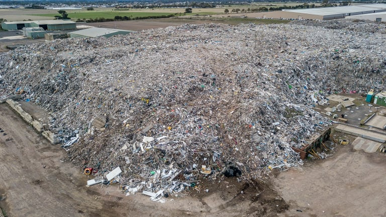 The CFA gave evidence to VCAT that the recycling stockpile in Lara is likely to go up in flames.