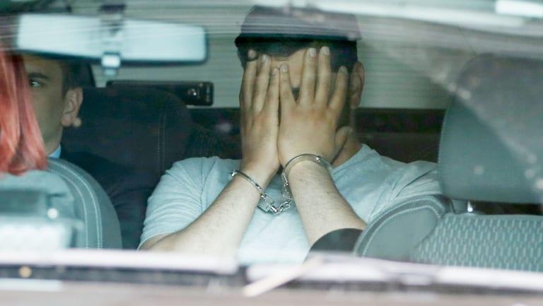 Accused Flinders Street driver Saeed Noori before appearing in court on Saturday.