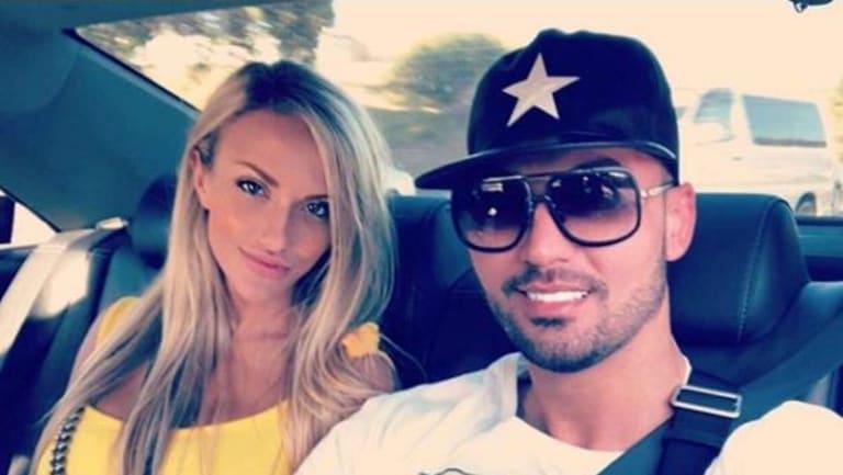 Salim Mehajer with girlfriend Melissa Tysoe in January.