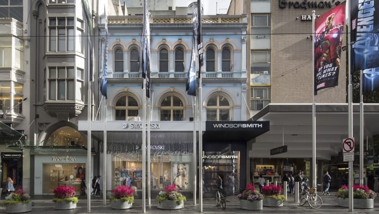The triple-storey shop is the oldest on Bourke Street Mall.