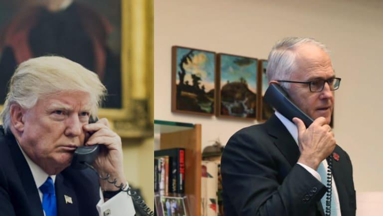 Trump and Turnbull.