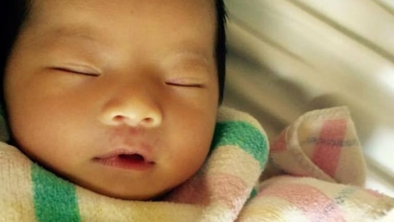 Two-month-old Queenie Xu