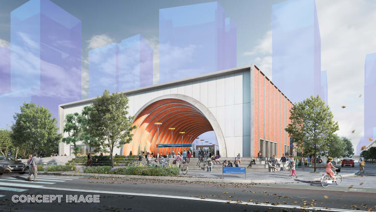 How North Melbourne station will look from Laurens Street.