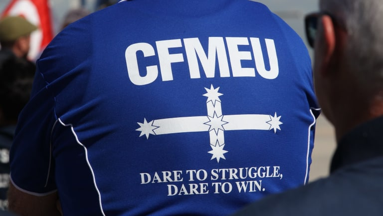 The CFMEU has been fined $13 million in recent years.