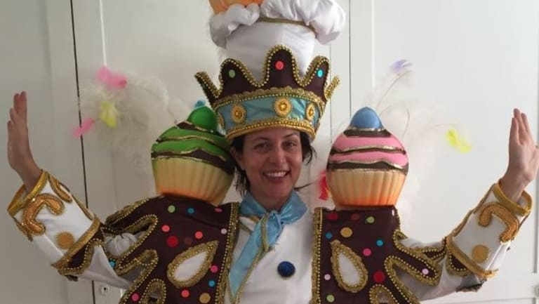 The Age's Lia Timson in dress rehearsal mode for Carnival.