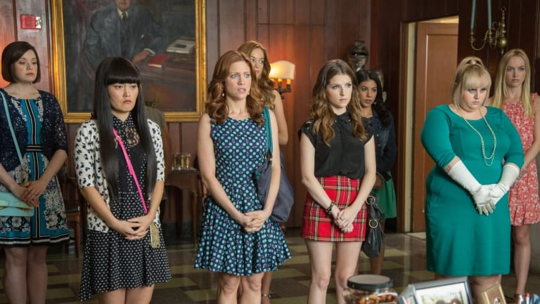 Wilson, second from right, in Pitch Perfect 2 (2015).