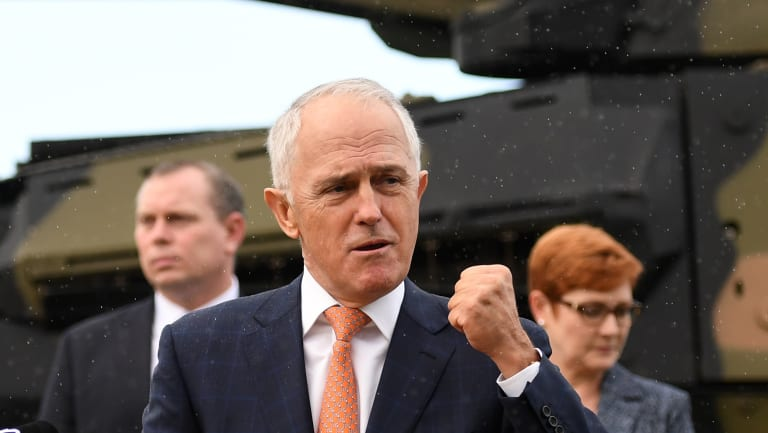Malcolm Turnbull announces Rheinmetall will build $5 billion of new armoured vehicles in Redbank for the Army.
