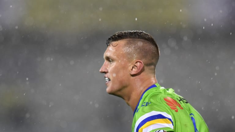 Under scrutiny: Jack Wighton looks on during a wet night in the capital.