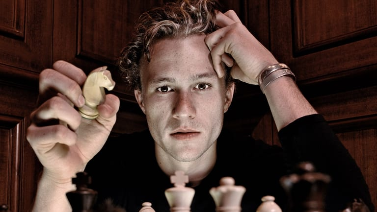 Heath and chess game, April 19, 2001