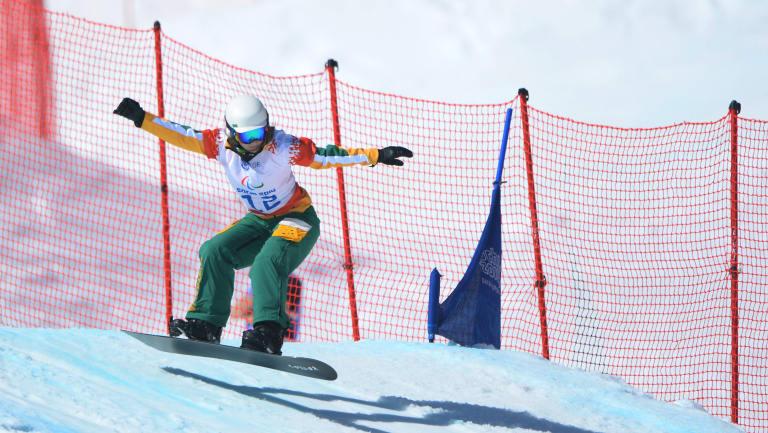 Joany Badenhorst in action at the Sochi Winter Olympics.