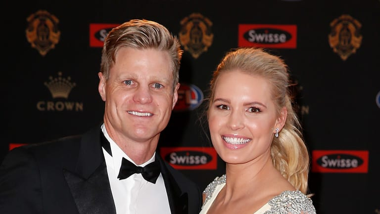 Riewoldt with his wife Catherine.