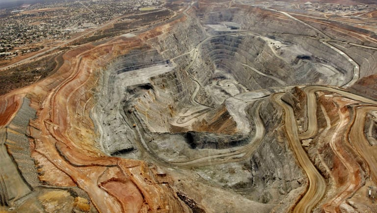 """The """"Super Pit"""" at the Kalgoorlie Consolidated Gold Mine."""