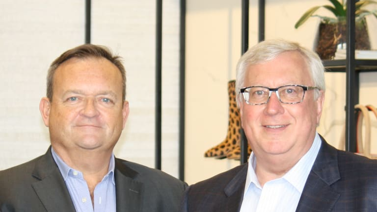 Myer's new CEO, John King with executive chairman Garry Hounsell