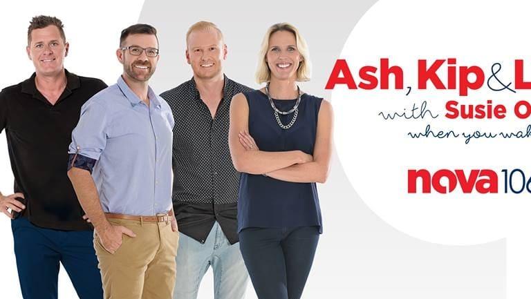 Nova's Ash, Kip and Luttsy, with Susie O'Neill.