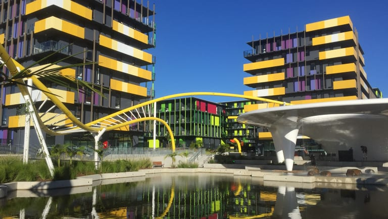 The Commonwealth Games athletes' village on the Gold Coast.