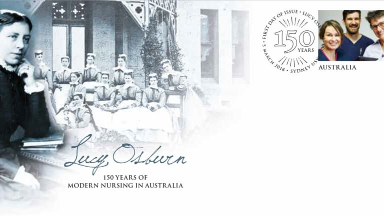 The Lucy Osborn envelope released by Australia Post.
