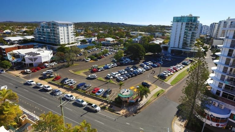 Where the new hotel, car park, aged care and residential develolpment will be built at Mooloolaba.