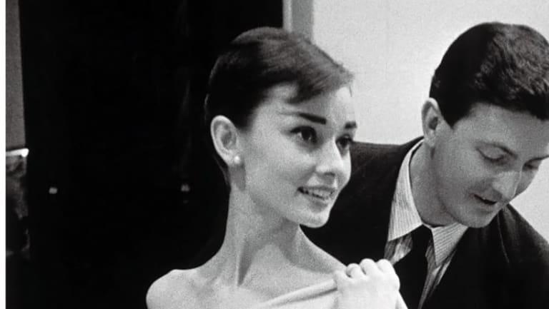 Audrey Hepburn with Hubert de Givenchy.