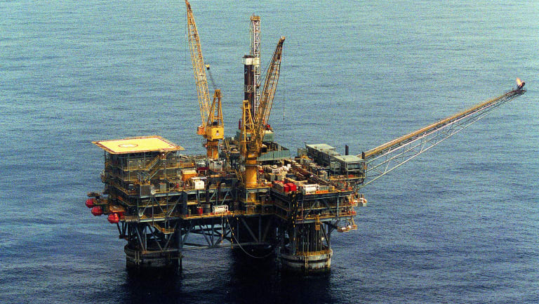 BHP and Esso's oil rig in the Bass Strait.