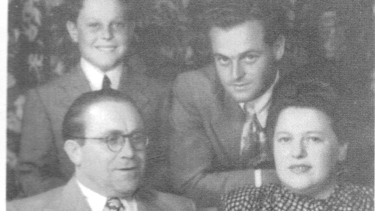 The Rudov family in Melbourne, clockwise from top right: David, Esther, Abraham and Monty.
