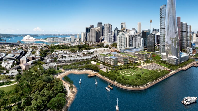 Artist's impression of Barangaroo Central.