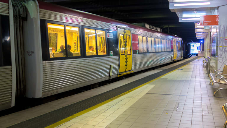 Paramedics were called to Fortitude Valley train station after the accident.