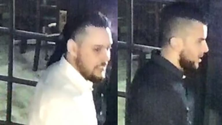 Two of the four men who police believe could be witnesses.