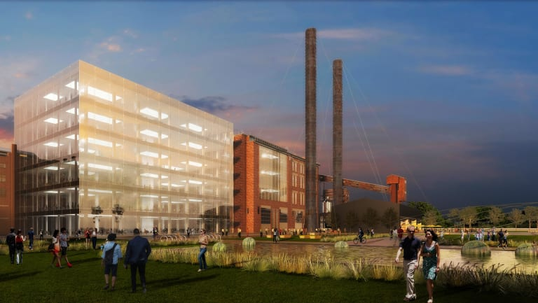 An artist's impression of how the White Bay power station redevelopment would have looked like.